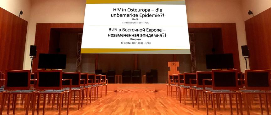 hiv in osteuropa konferenz in Berlin Oktober 2017