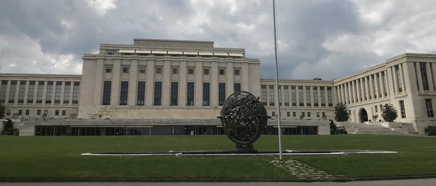 UN Gebäude in Genf - Austragungsort der Weltgesundheitsversammlung - Foto: Peter Wiessner