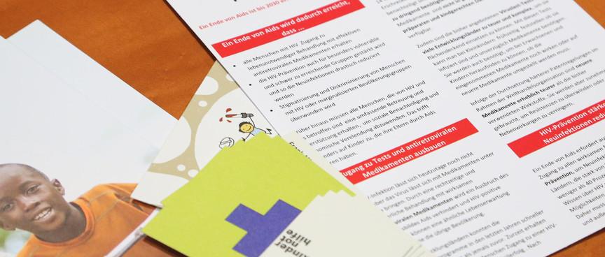 """Flyer """"Für ein Ende von Aids bis 2030"""""""