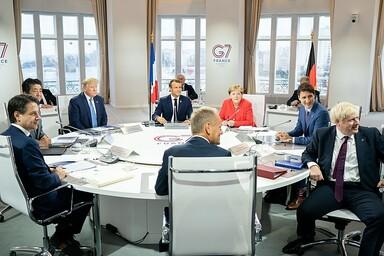 G7 Treffen Frankreiche Biarritz mit Donald Trump, Giuseppe Conte, Donald Tusk, Shinzo Abe, Boris Johnson, Angela Merkel, Justin Trudeau, Emmanuel Macron