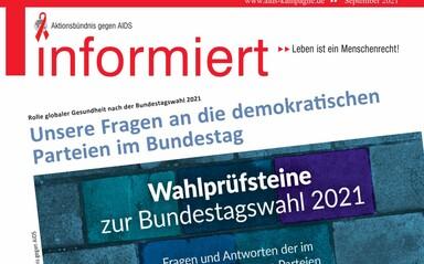 Titelseite der aktuellen informiert 01/2021