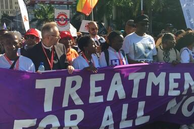 Foto der Welt AIDS Konferenz in Durban 2016 - Behandlung für alle!