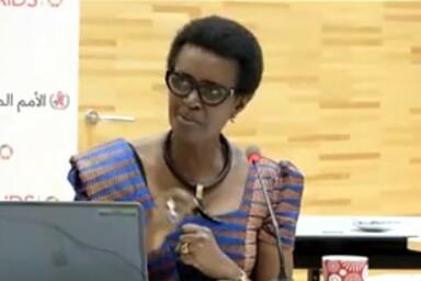 Winnie Byanyima Screenshot aus dem Meeting