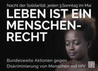 """Postkarte """"S/W Nacht der Solidarität"""""""