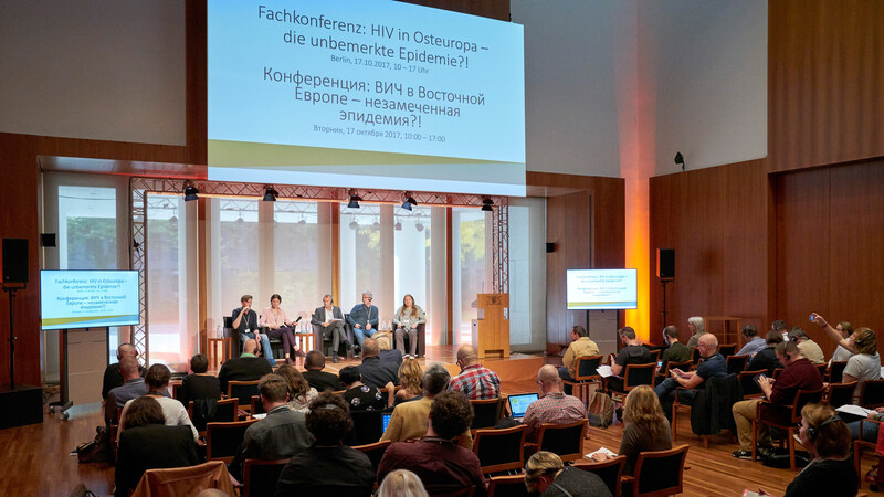 AIDS Kampagne, HIV, Osteuropa, Brot für die Welt, Deutsche AIDS-Hilfe, Konferenz, Berlin, Landesvertretung Baden-Württemberg, Russland,